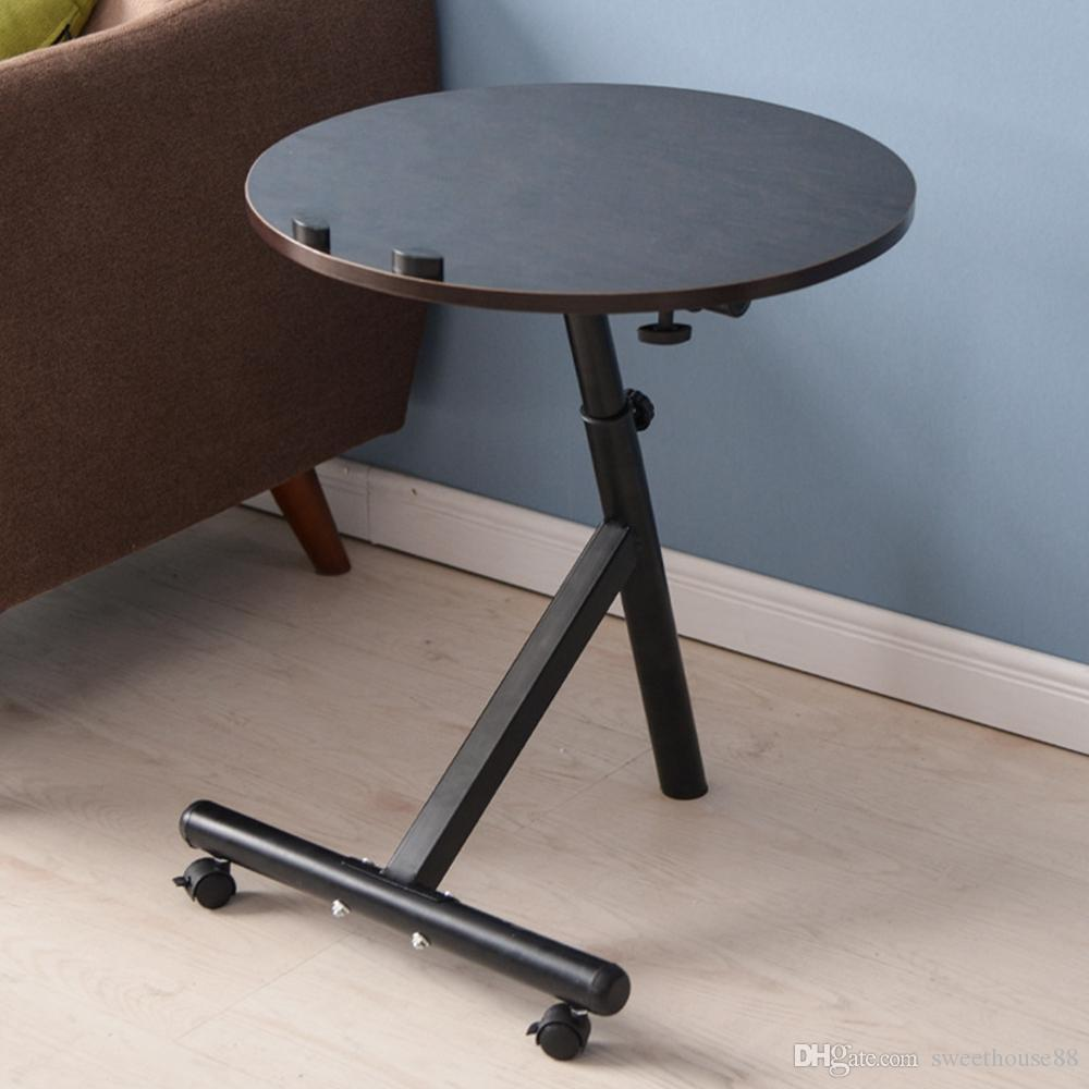 Movable furniture Easily 2019 Movable Lift Desk Round Adjustable Tea Table Coffee Tables Home Furniture Multifunctional Angle And Height Adjustable Round Coffee Table Nb From Dhgatecom 2019 Movable Lift Desk Round Adjustable Tea Table Coffee Tables Home