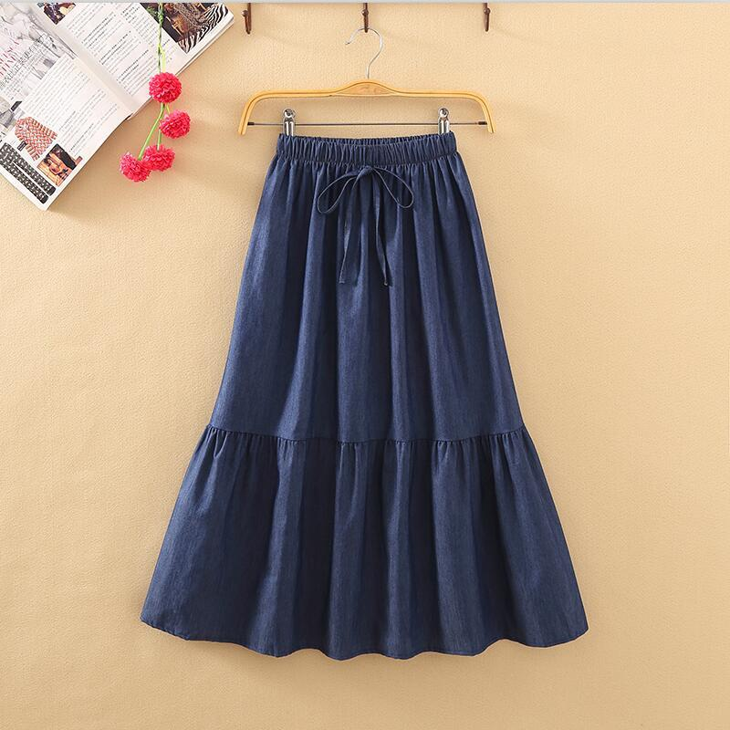 3cef2811f8ae2 2018 Women Summer New Fashion Denim Skirt Sweet Girl Casual Loose ...