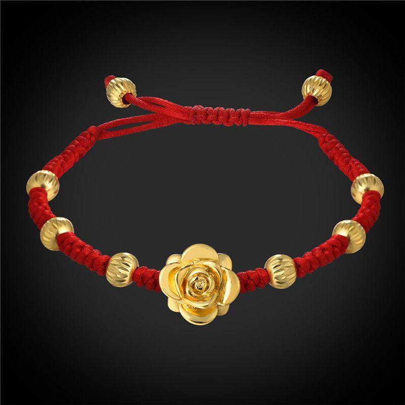 U7 Jewelry Romantic Flower Bracelet Fashion 18K Gold Plated Rose Flower Women Jewelry Perfect Gift H2759K