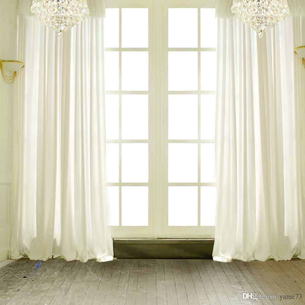 2018 Vinyl Wedding White Curtain Window Door Photography Studio Backdrop  Background From Yame73, $14.08 | Dhgate.Com