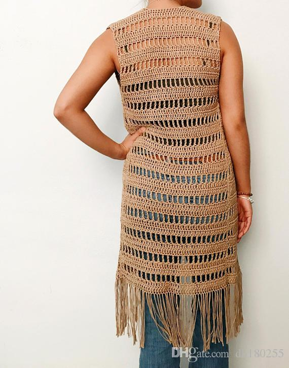 Compre Crochet Chaleco Extralargo Extra Largo 06f7acfeafbd