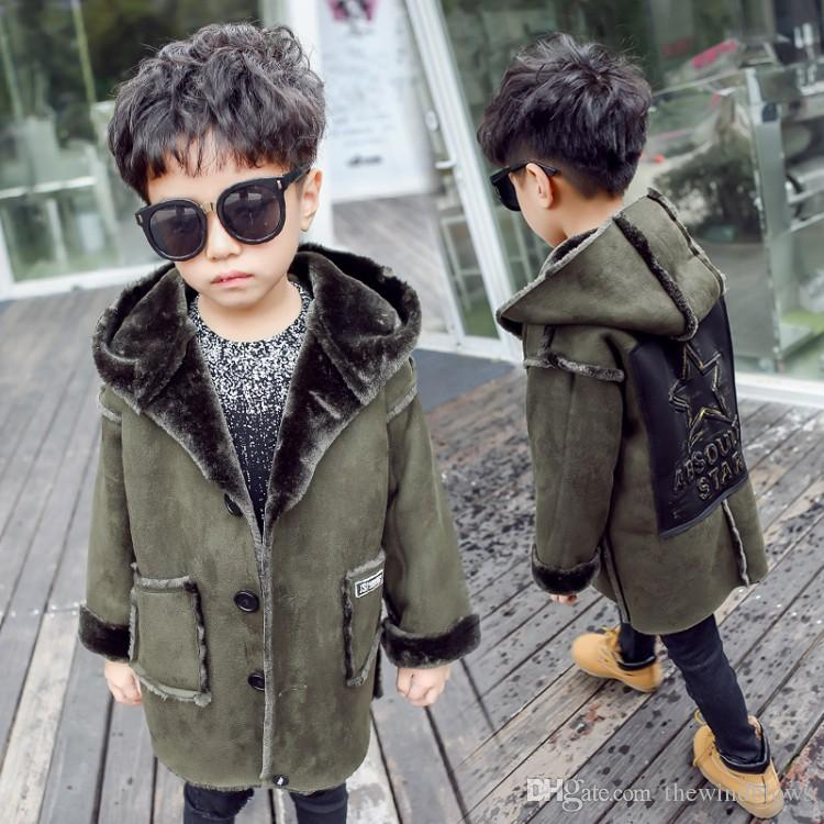 2dc916c76 2018 New Fashion Autumn Winter Boys Faux Fur Coats Baby Thicken ...