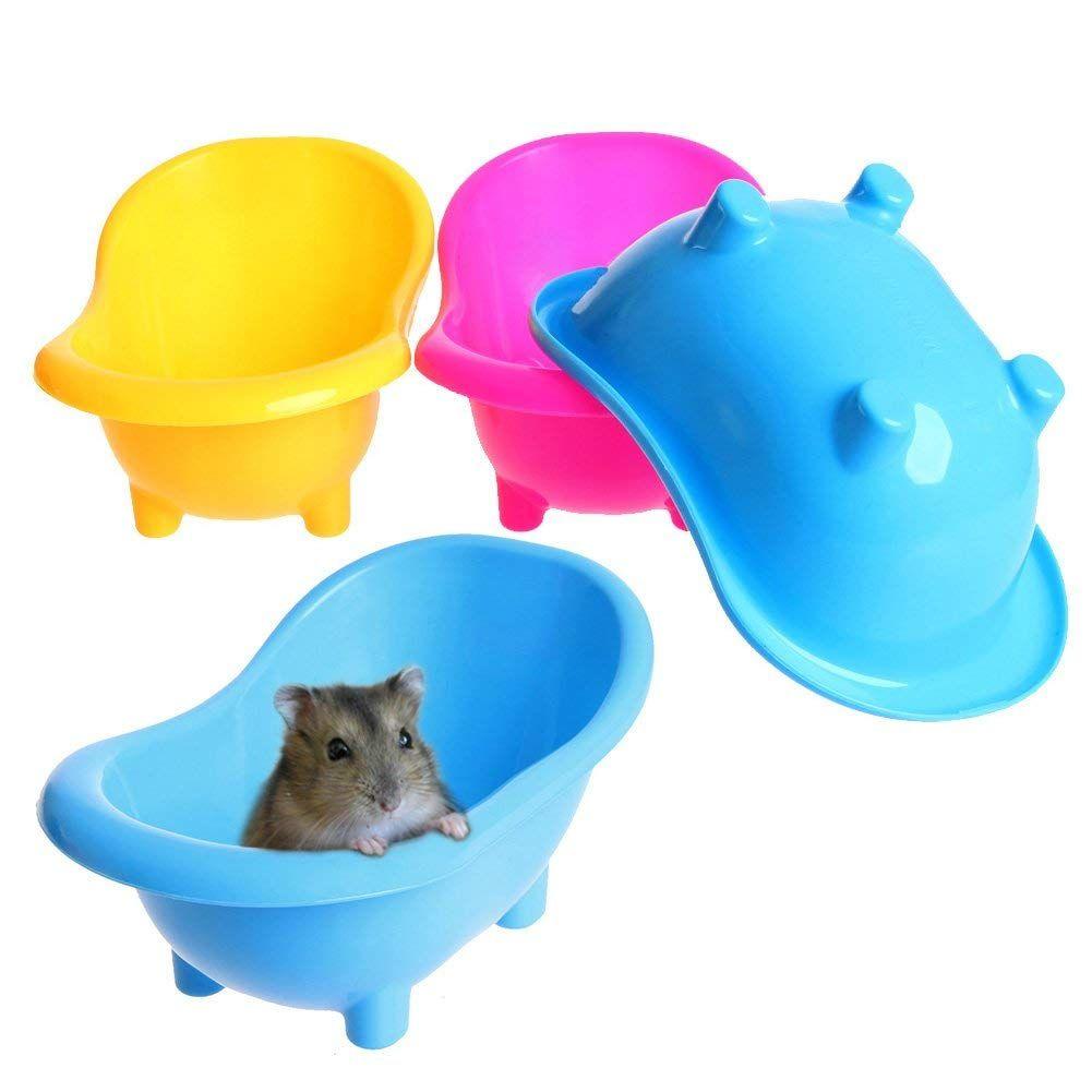 Mini Hamster Gerbils Bathtub Small Pets Bath Sand Room Bathroom ...