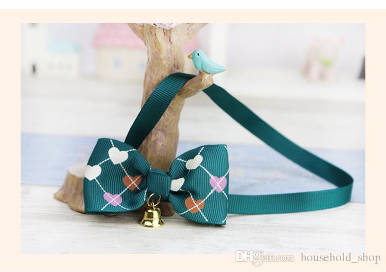 Ornamenti di cravatta a farfalla Pet Dog all'ingrosso con piccola campana regolabile Cat Cravatta Pet Cravatta i