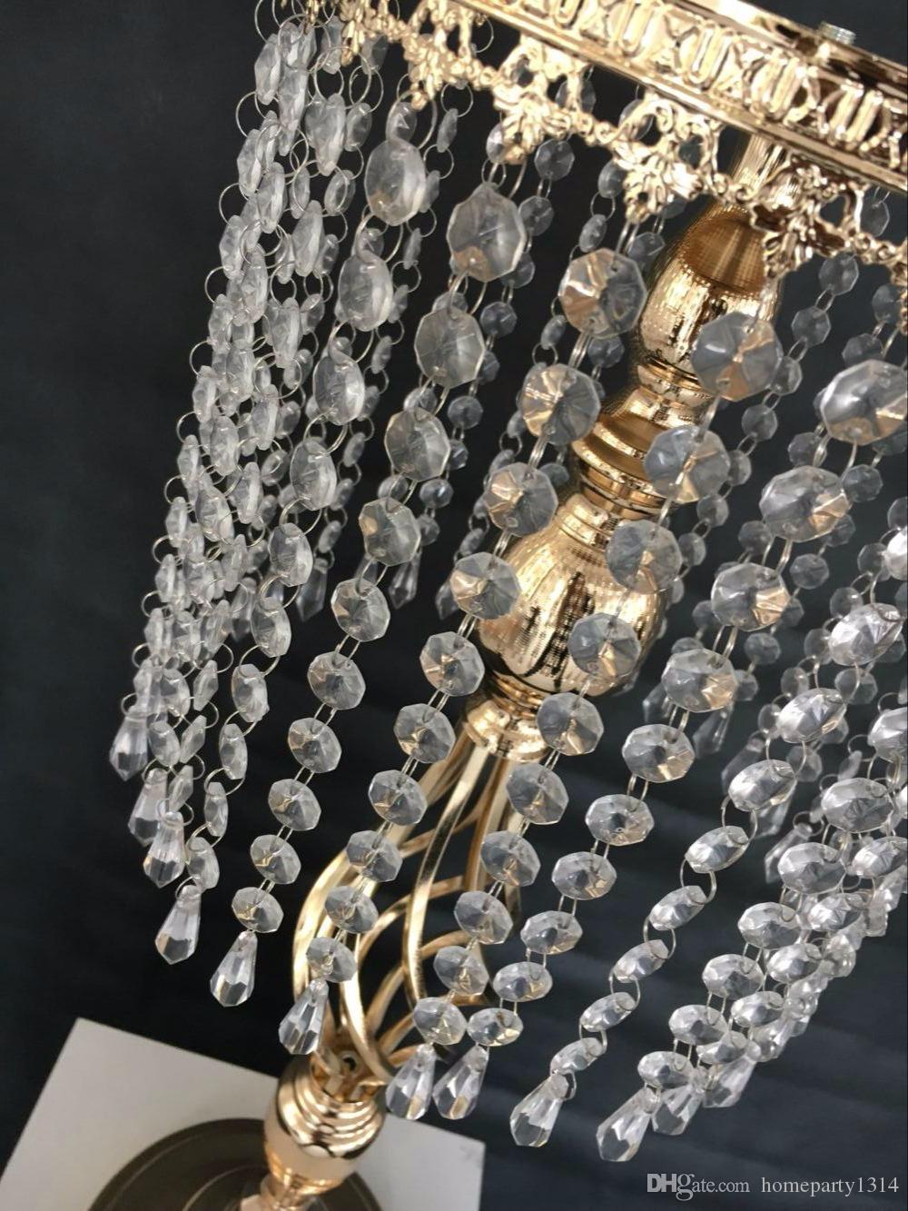 Alta 70 cm do casamento flor decoração de ferro vaso de cristal carrinho de mesa do hotel mesa de centro de flores vaso de exposição do casamento sinal de estrada da estrada de chumbo