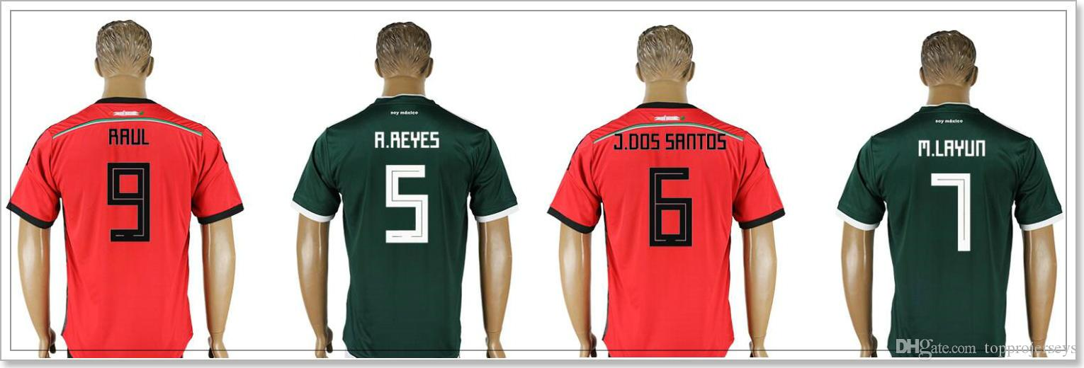 48494215b23 france adidas mexico world cup long sleeve away jersey 2018 customizable  a6369 ca34d  norway mexico 5 a. reye 6 jonathan dos santos 7 miguel layún 8  hirving ...
