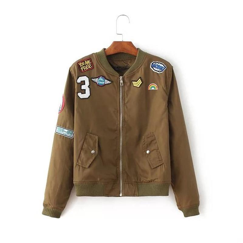 cb91aef2f 2018 New Vintage patch designs basic jacket coat Spring autumn street  bomber jacket Women reversible baseball jackets sukajan