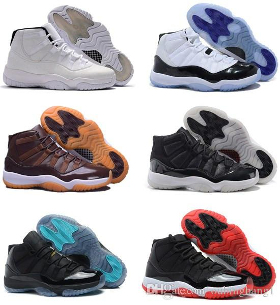 New 11 Space Jam Bred Concord Men Women Basketball Shoes 11s Gym Red ... 73c6676a332b