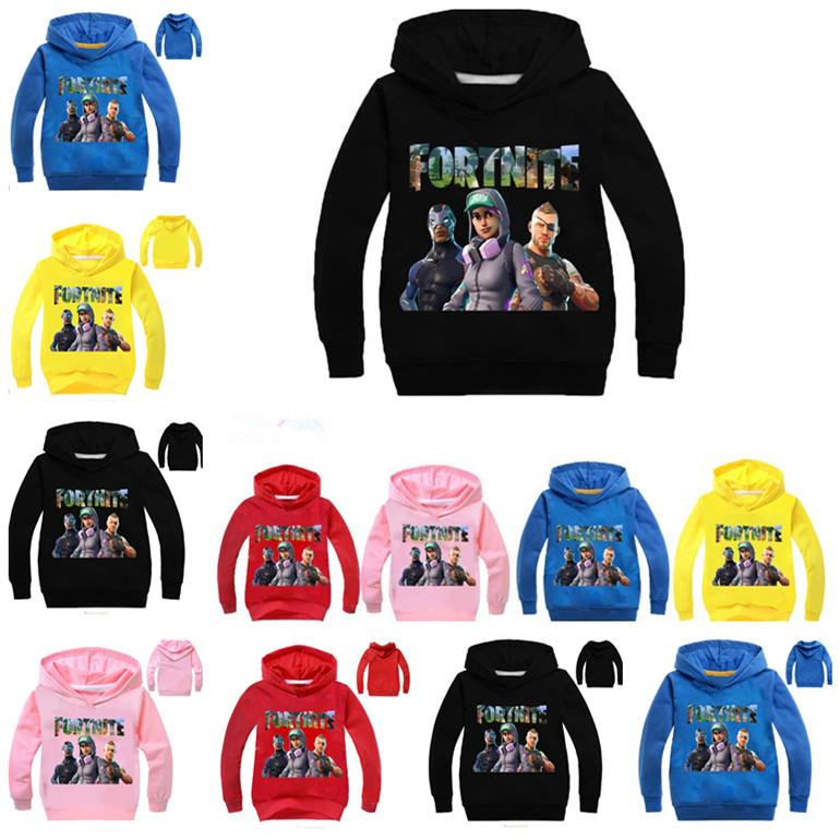 06766ee1e Fortnite Kids Hoodies Sweatshirts Kids Cotton Pullover Long Sleeved ...