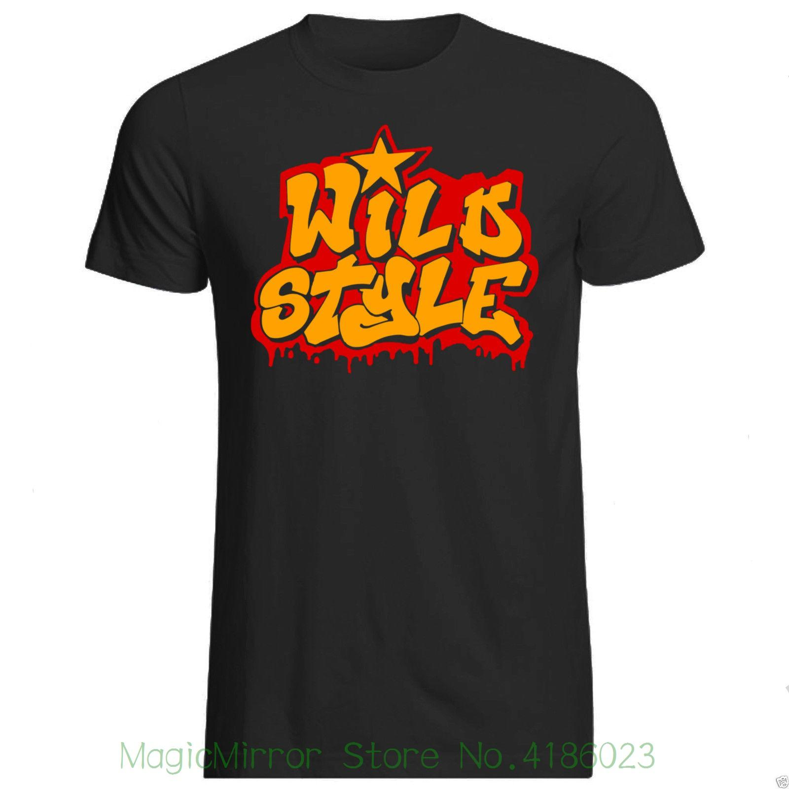 Wild style t shirt various sizes col brand graffiti art tag bombing summer 2018 100 cotton