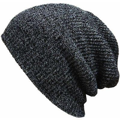 0152235b0ea 2019 Autumn Men Slouch Skull Cap Oversize Long Beanie Women Baggy Cap Crochet  Knit Ski Hat From Peachguo
