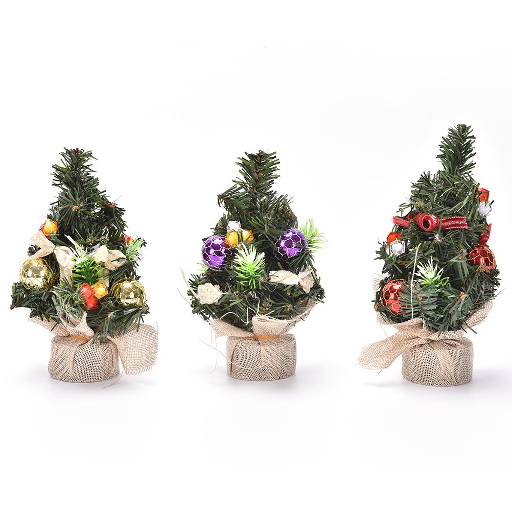 3 types mini christmas tree ornaments festival party xmas decoration for home party decor table desk display 21cm christmas ornaments sale christmas