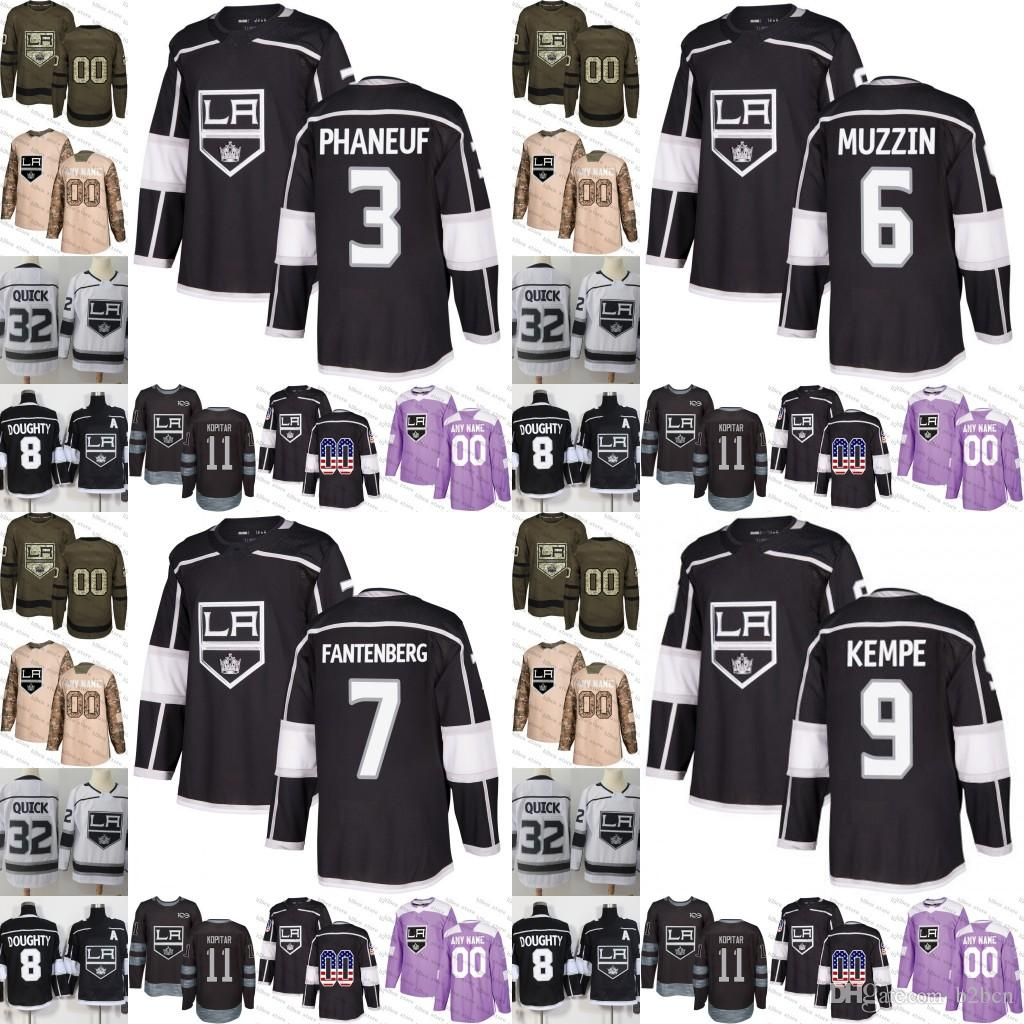 2019 2019 Los Angeles Kings Mens Womens Youth 9 Adrian Kempe 3 Dion Phaneuf  6 Jake Muzzin 7 Oscar Fantenberg Hockey Jerseys Stitched S 3XL From B2bcn 253e7c21d