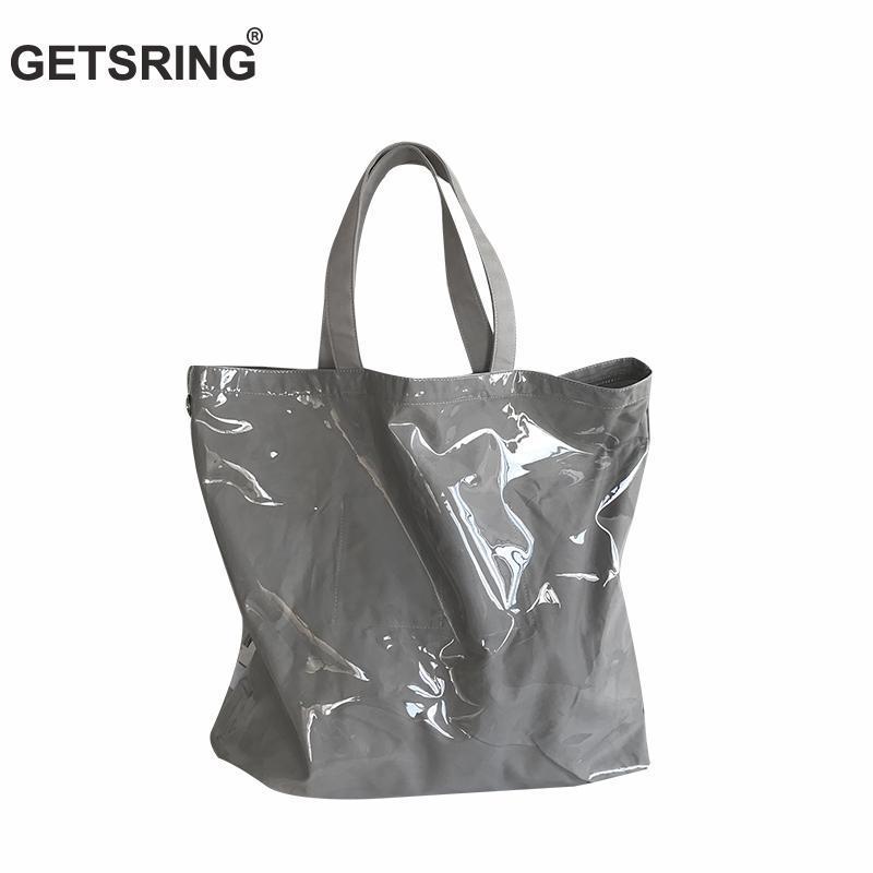 Wholesale Women Bag Waterproof Handbag Pvc Totes Shopping Bag Hands Bags  Casual 2018 Summer New Large Capacity Silver Grey New Mens Leather Bags  Italian ... d9147ce4eca1e