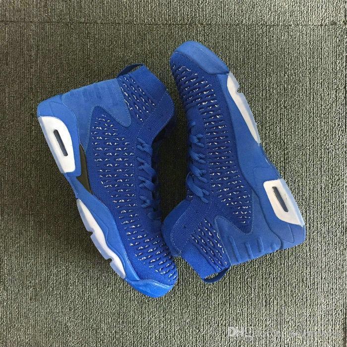 2018 새로운 VI 6 weaves 중국 파란색 남자 농구 신발 높은 품질 6s 적외선 스포츠 블루 망 디자이너 운동 조깅 스니커즈를 실행