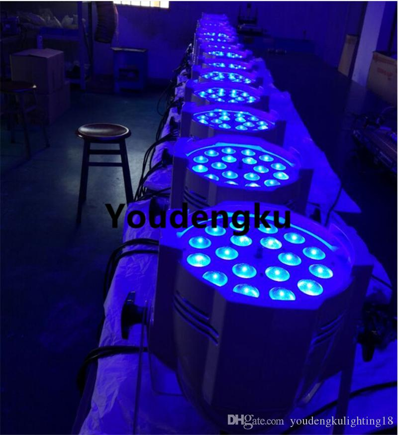 6 / Stage led par par spot light par par 18x12w rgbw 4in1 zoom par puede volar caso