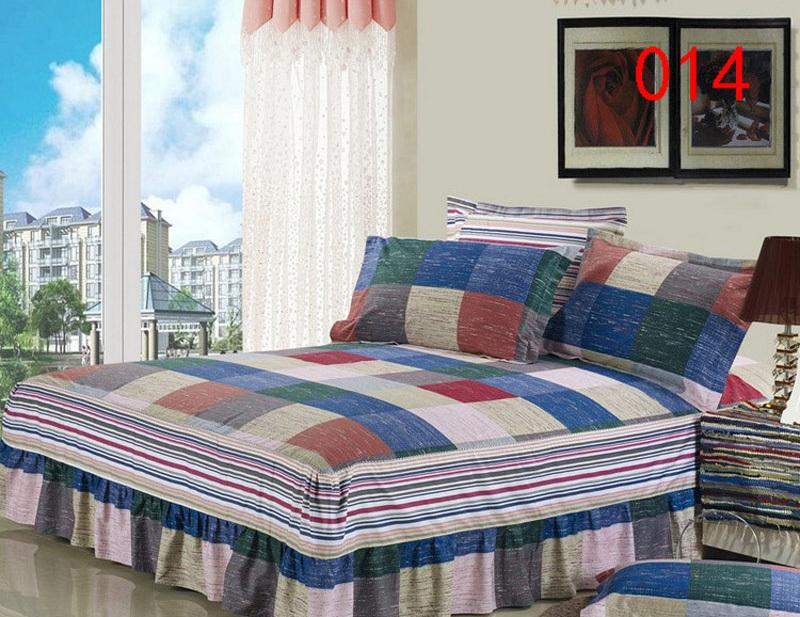 Blue Yellow Red 1 Cotton Bed Skirt Mattress Protective Cover