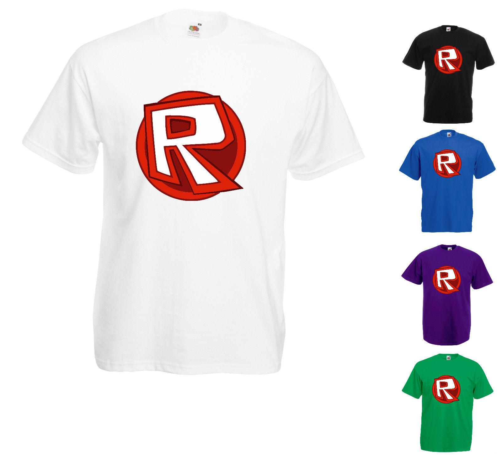 Roblox R Circle Logo Printed T Shirt Gaming Mens Shirt Printed