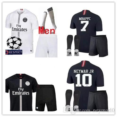 Champions League Psg Soccer Jersey Kit Paris 18 19 Mbappe Black ... a4b1ce0ff
