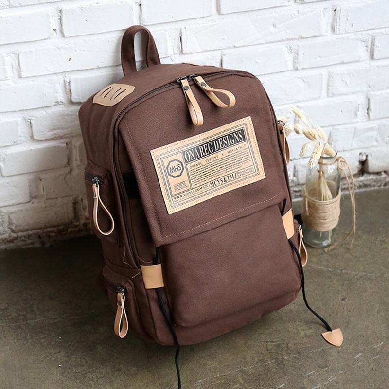 College Campus Students School Bag Teenagers Canvas Schoolbags Large  Capacity Girls Boys Travel Rucksacks Causal Large Bac Tool Backpack Best  Laptop ... 51447c470d4c4