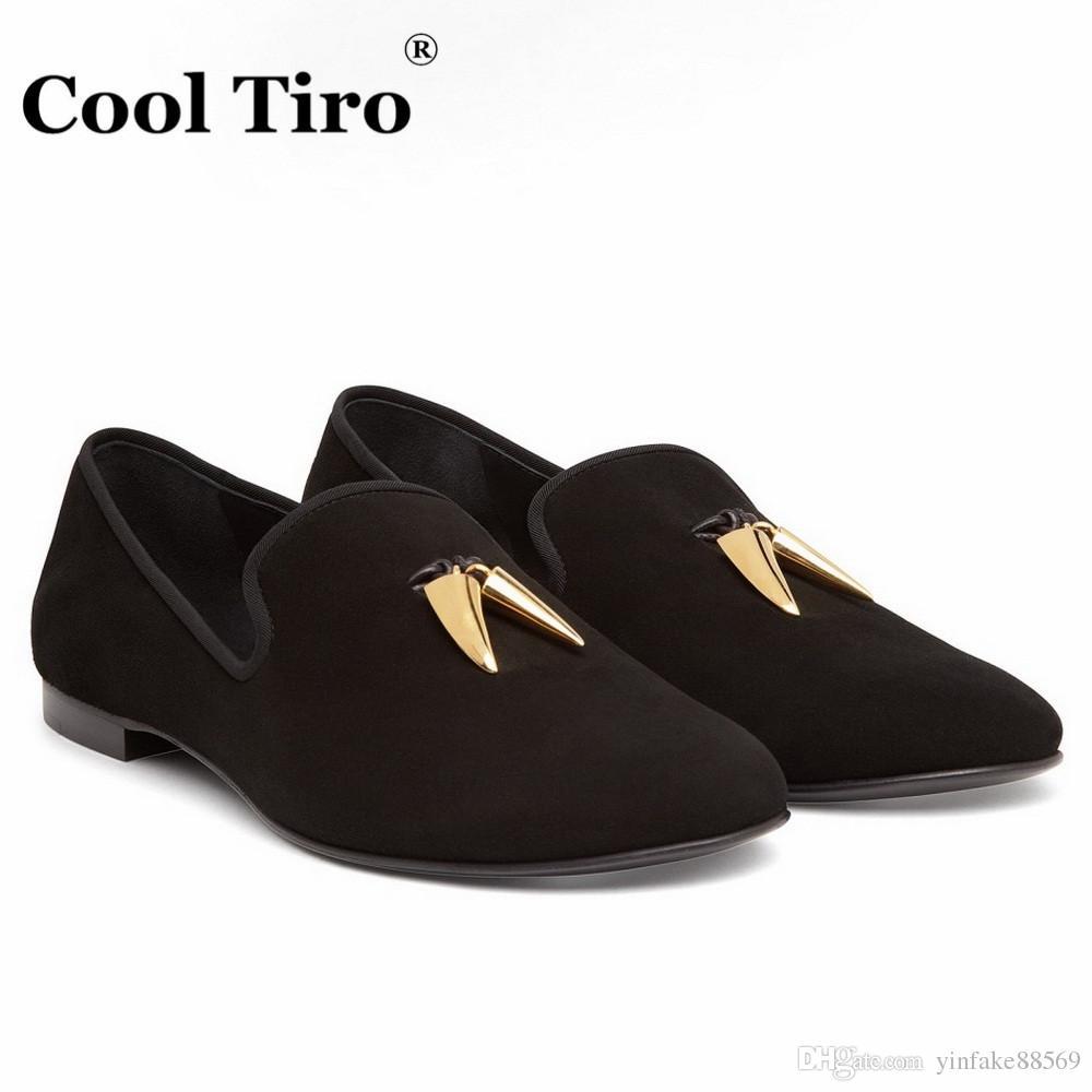 Compre Zapatos De Hombre De Gamuza Negra Para Hombres Zapatos De ...