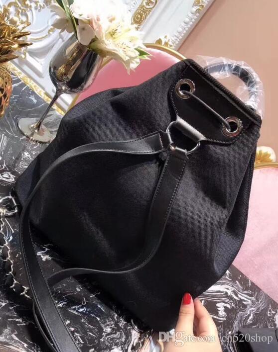 Avec Vintage Sacs Cuir 33cm Coton Occasionnels Jean Crossbody Bourse À Bandoulière Épaule Tissu Femmes Double Femme Seau 2018 6Y7vbfgy