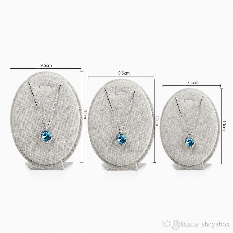 Esposizione ovale dei gioielli dei gioielli di forma dell'uovo della visualizzazione della collana dell'esposizione della collana del pendente dei gioielli l'esposizione fiera del mercato dell'artigianato del chiosco della vetrina