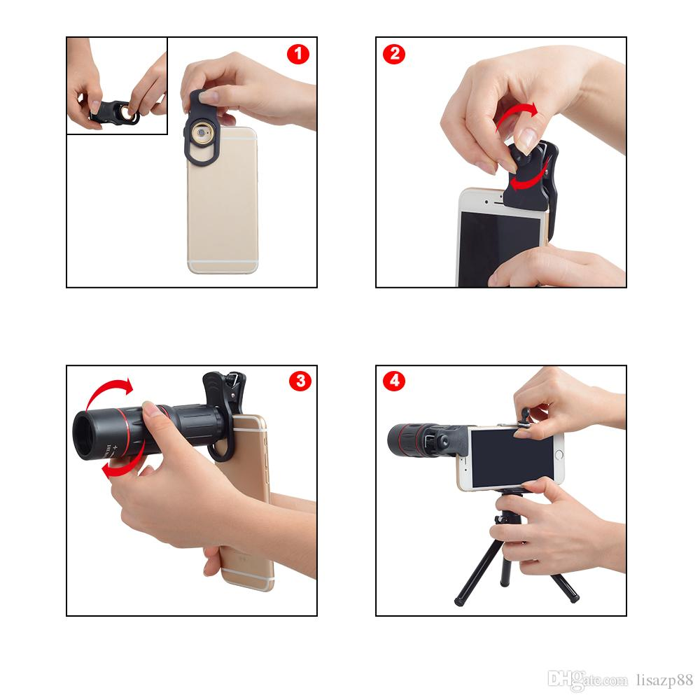 Telefon Camera Lens universal 18X Telescope Zoom telescope Mobile Phone Lens for iPhone Xiaomi Smartphones