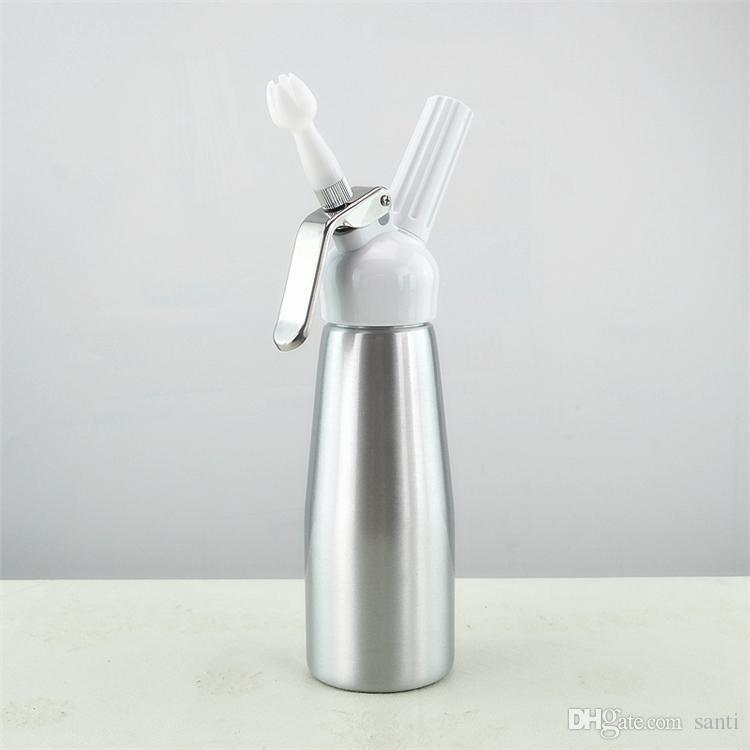 Столовая бар бутылки с водой Drinkware столовая бар новый 500 мл взбить кофе, десерт, свежие сливки, масло, диспенсер для взбивания пены чайник металл