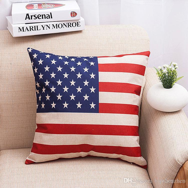 45x45cm новый английский США наволочка чехлы французский флаг страны Париж наволочки диван 18x18 хлопок белье поясничного поддержка Almofada