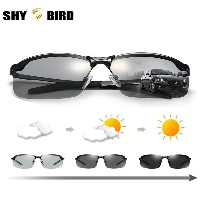 b16c290d5e SHYBIRD Photochromic Polarized Men s Sunglasses Driving Glasses Men s Biker Sunglasses  Fashion Man 3043 Knockaround Sunglasses Sunglases From Xiacao