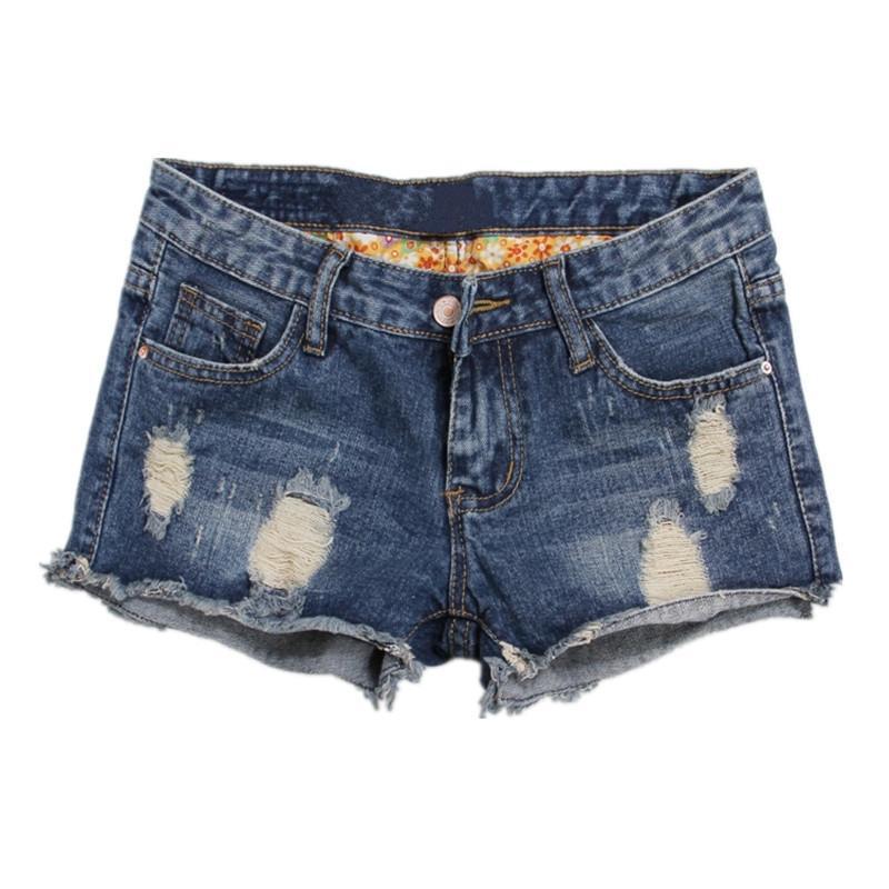 508960c5 Compre Europa Pantalones Cortos De Mezclilla Azul Para Las Mujeres Del  Verano Nueva Marca De Moda Delgado Ocasional Más El Tamaño 36 Para Mujer  Pantalones ...