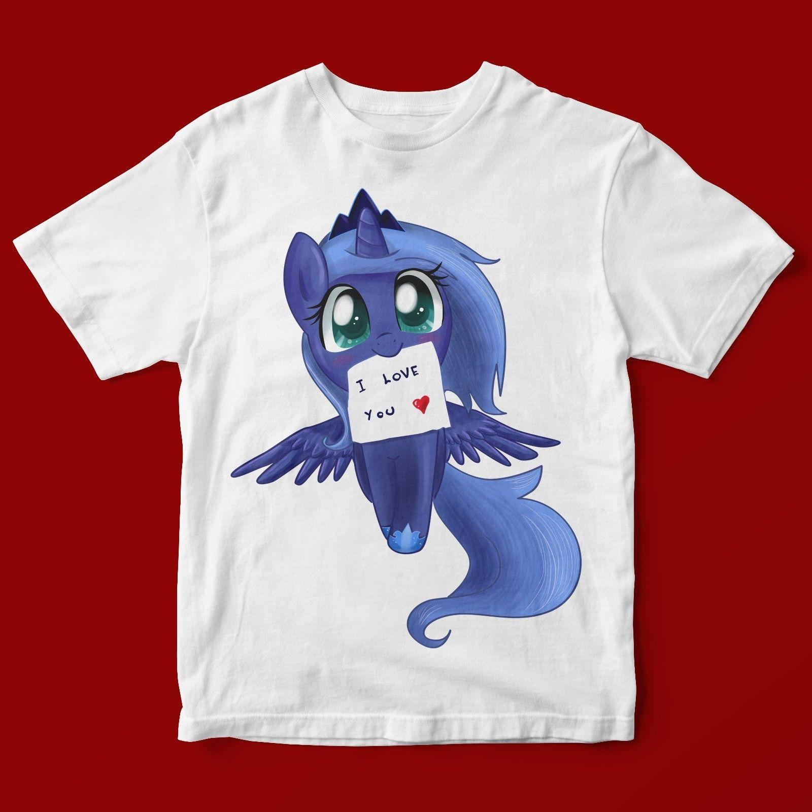 9f93e8ff0ad I LOVE YOU BLUE PONY T SHIRT UNISEX 791 Ladies T Shirts Shirts Design From  Valuebuy