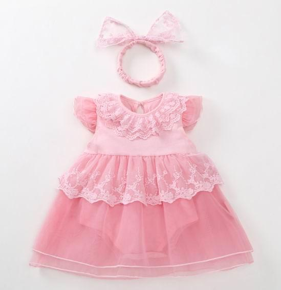 e4bc1ddaaa4f 2019 New Baby Girl Dress With Romper 1 Year Birthday Photography ...