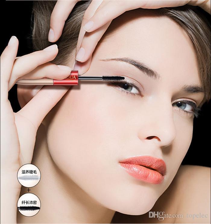 BIOAQUA Brand Double Ended White+Black Fiber Mascara Waterproof Makeup Colossal Lash Rimel Curling Eyelash Extension Make Up