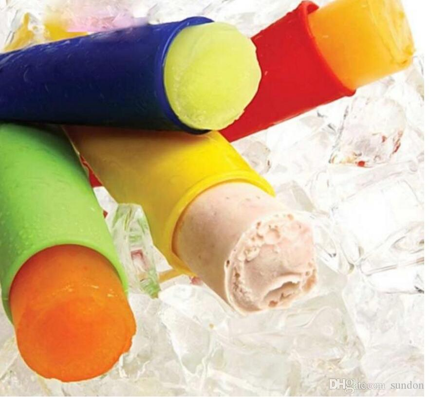 20 cm long silicone ice pop maker Push Up Ice Cream Jelly Lolly Pop For Popsicle Silicone ice pop mold mould