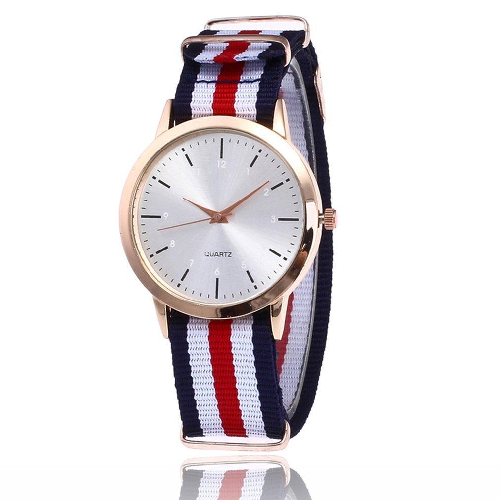 afe0fa588dee Compre Minimalista Reloj Nylon Correa Aleación Caja Niñas Moda Cuarzo  Relojes De Pulsera Regalos Populares Montre Femme 2018 A  21.11 Del  Qinzhengguo ...