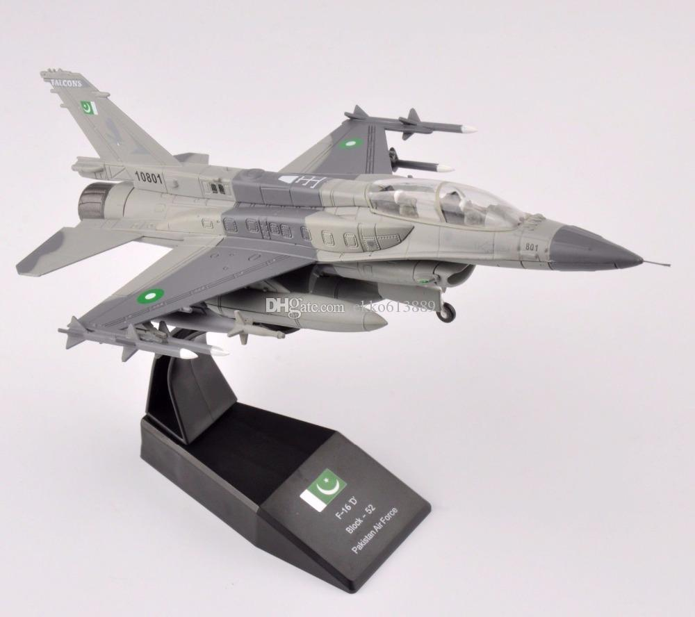 1/72 Scale Diecast F-16 Block-52 Pakistan Air Force Aircraft Model Collection For Birthday gift