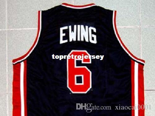 f5f17d8c2 Cheap Mens PATRICK EWING #6 TEAM USA JERSEY NEW NAVY BLUE NEW ANY ...