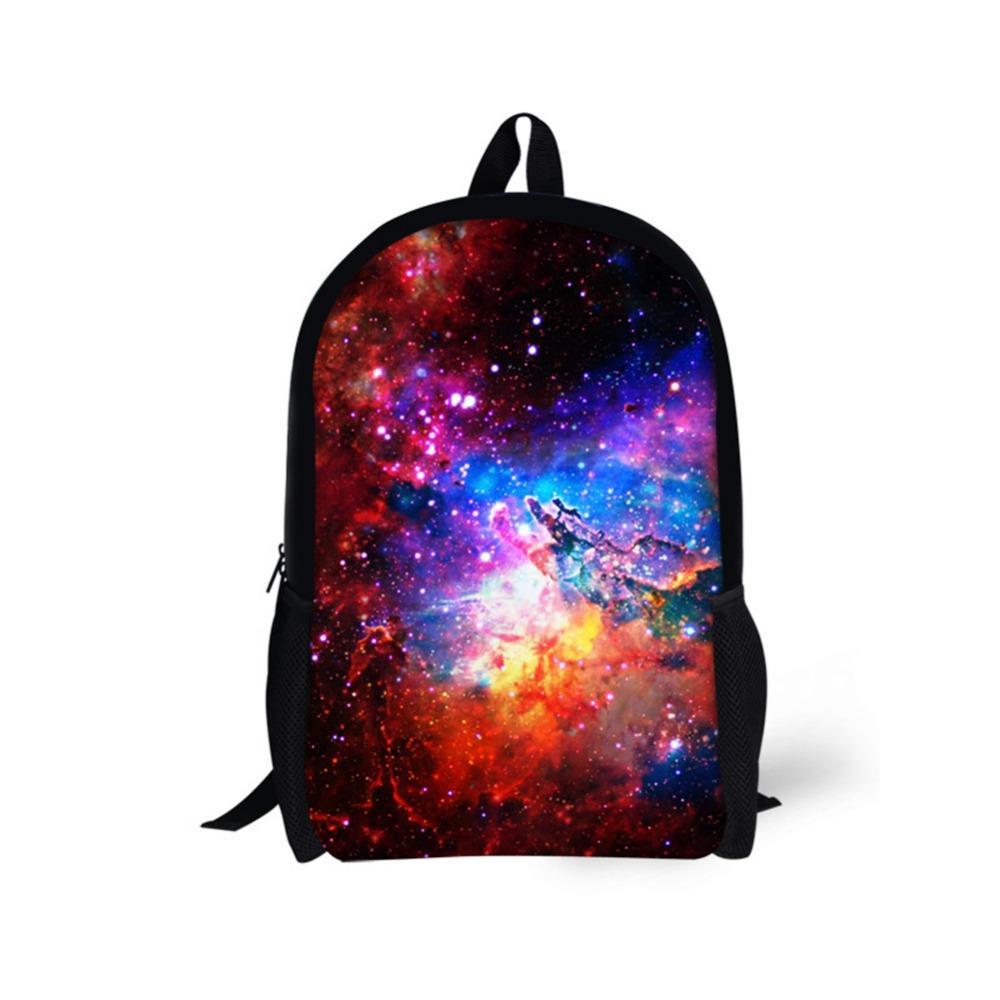 d41ee21f002c Kids School Bag Backpack Fantasy Galaxy Starry Sky Print Schoolbag ...