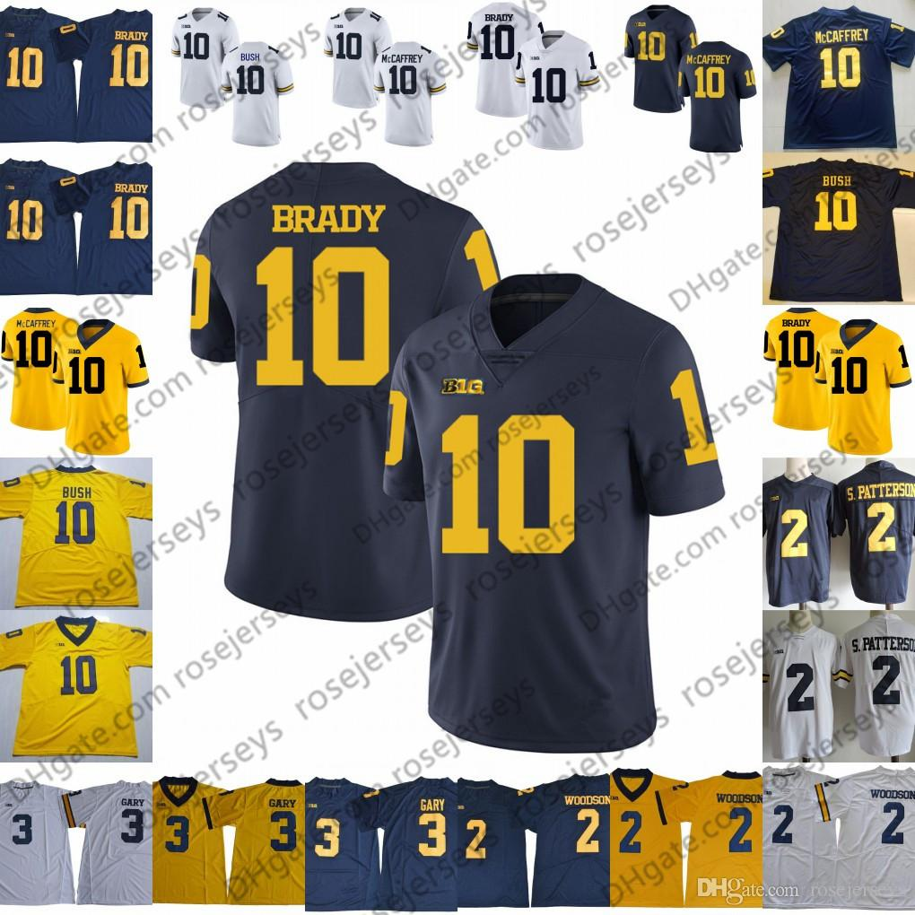 0ccc1565b3dfdf ... denmark jordan brand stitched ncaa jersey 2018 ncaa michigan wolverines  10 tom brady mccaffrey bush 2