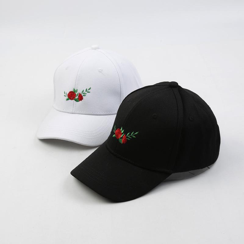 a75f16b94d1 2018 New Hot Fashion Roses Men Women Baseball Caps Spring Summer Sun ...