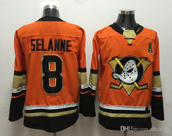2019 New Ducks Jerseys  8 Selanne 2018 New Hockey Jerseys Orange Color Size  M XXXL High Quality Football All Jerseys From Dhchina 94a7407a6