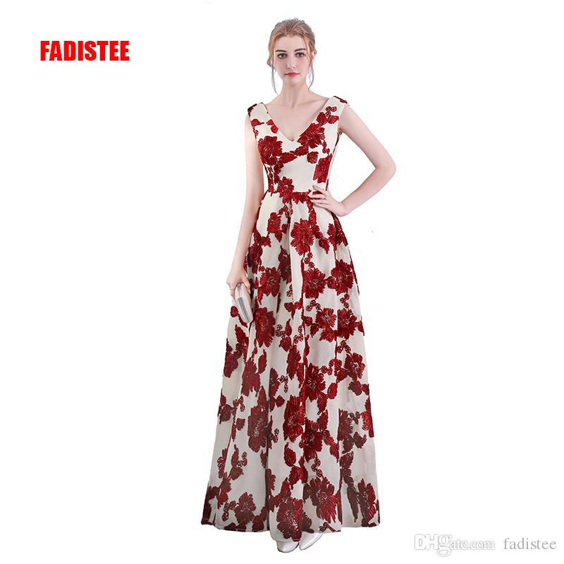 b1faf619f2cca FADISTEE New Arrival Elegant Evening Dresses Prom Party Sleeveless ...