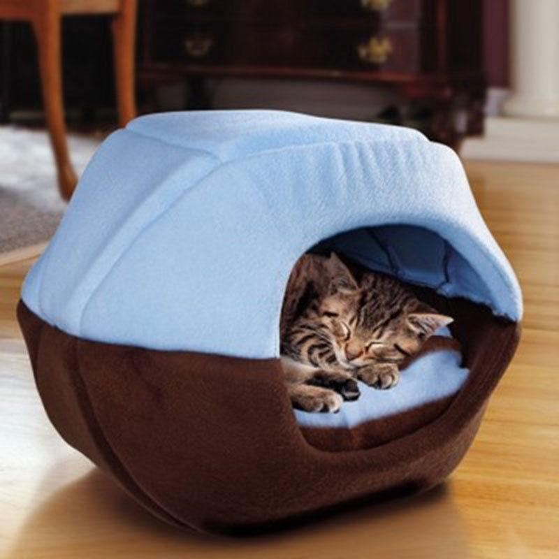 Foldable Cat Dog House Puppy Cave Pet Sleeping Warm Bed Mat Pad Nest Kennel Tent Pet Dog Cats Sleeping Bed