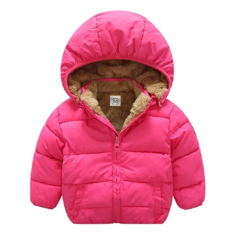 5832c1035b36c 1 5 Years Fashion Baby Boy Jacket Thick Warm Winter Baby Boy Girls Winter  Coats Hooded Solid Blue Red Green Children S Coats Girls Coat From Oliveer