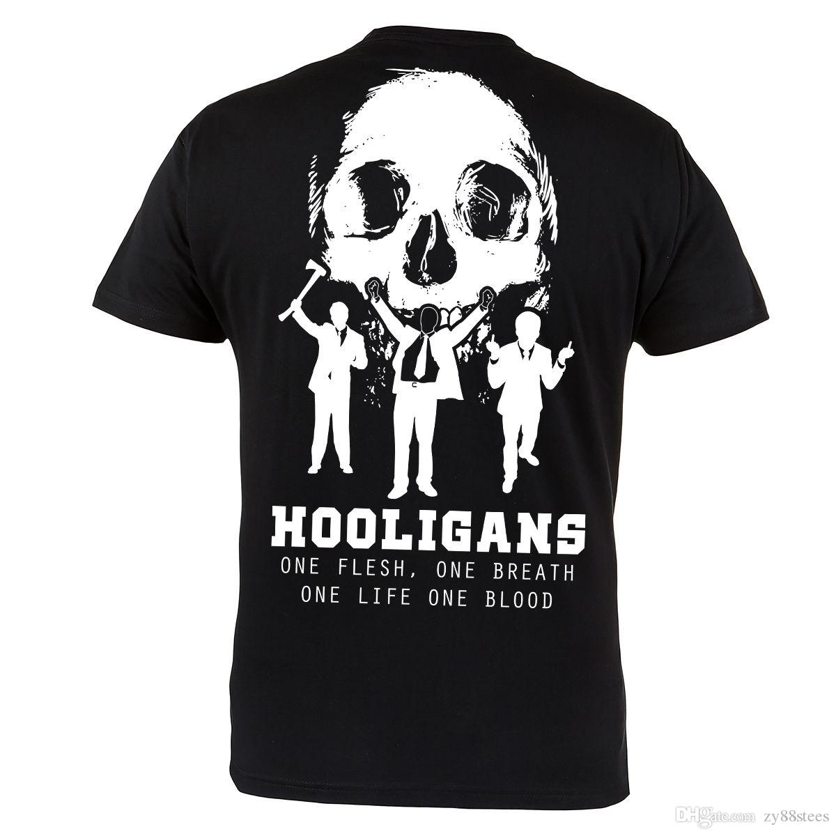 e8552aed Hooligans Ultras Group Mens Black 100% Cotton T Shirt Top Tee Good Quality T  Shirt Short Sleeve Custom T Shirts Hip Hop Online 3XL Cotton Online Buy T  ...