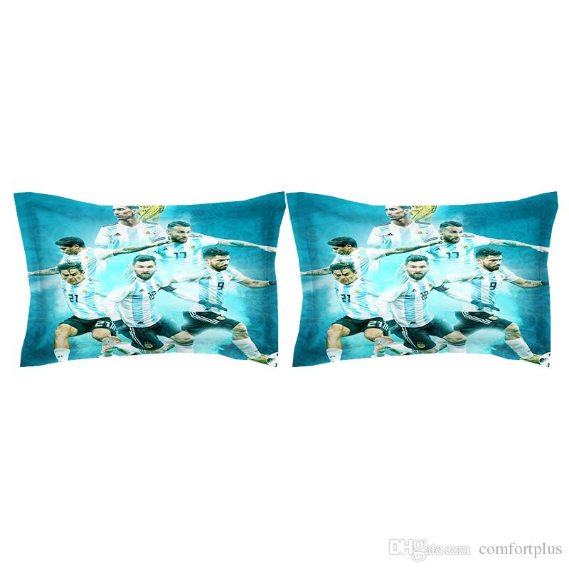 3 Designs World Cup Football Pattern Bedding Set Duvet Cover Set Of Quilt Cover & Pillowcase Twin Full Queen King Size