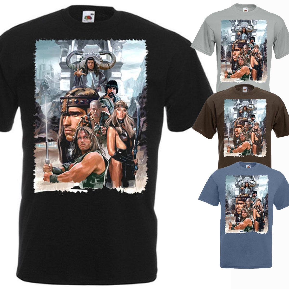 f1c9f4b4ccc Conan The Barbarian T Shirt V1 Zink Black White Brown Movie Poster All  Sizes Tee Shirt Men Man S Best Deals Custom Short Sleeve Plus T Shirts  Shopping ...
