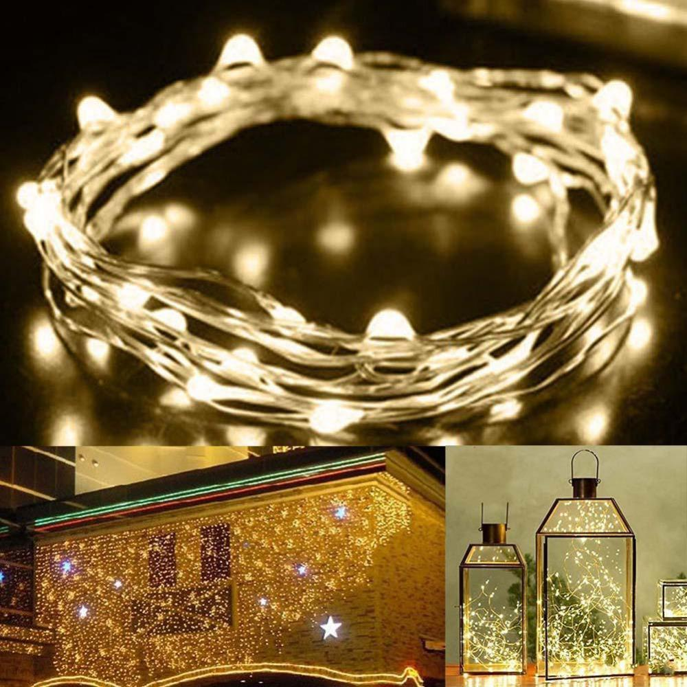 2m 20 Led Battery Operated Led Copper Wire String Lights For Xmas ...